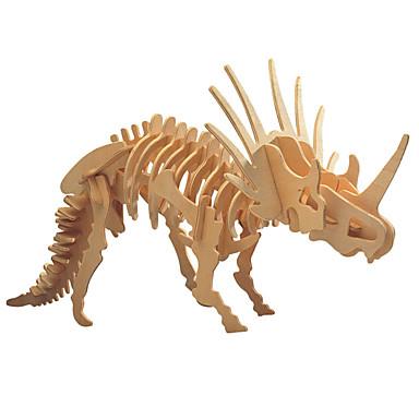 voordelige 3D-puzzels-3D-puzzels Houten puzzels Houten modellen Triceratops Dinosaurus Fossiele botten DHZ Puinen 1 pcs Kinderen Volwassenen Jongens Meisjes Speeltjes Geschenk