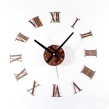 الحديثة / المعاصرة رجعي أكريليك خشب معدن دائري بدعة في الأماكن المغلقة /في الهواء الطلق,AA ساعة الحائط