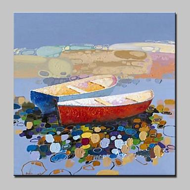 Maalattu Abstrakti Abstraktit maisemakuvat öljymaalauksia,Moderni European Style 1 paneeli Kanvas Hang-Painted öljymaalaus For