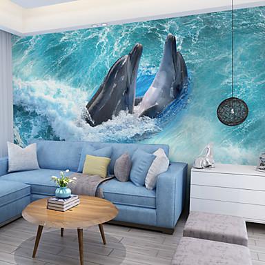 Art Decó 3D Decoración hogareña Clásico Revestimiento de pared, Lona Material adhesiva requerida Mural, Revestimiento de paredes de