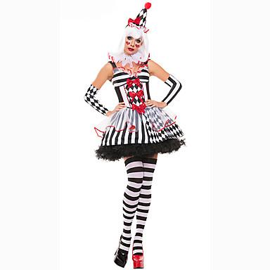 Cosplay Kostüme Party Kostüme Maskerade Burleske/Clown Film Cosplay Kleid Ärmel Hut Frau