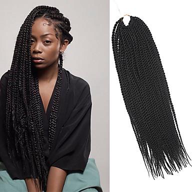 Trenza de la torcedura Trenzas de cabello Senegal Cabello 100 % Kanekalon Marrón Oscuro Cabello para trenzas Extensiones de cabello