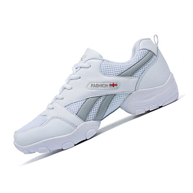 Herren-Sportschuhe-Sportlich-Stoff-Flacher Absatz-Komfort-Schwarz Weiß