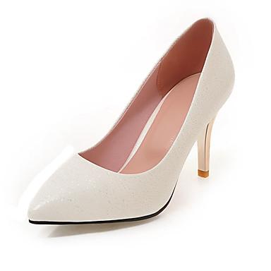 Damen Schuhe PU Frühling Sommer Herbst High Heels Stöckelabsatz Spitze Zehe für Normal Party & Festivität Weiß Schwarz Beige Blau Rosa
