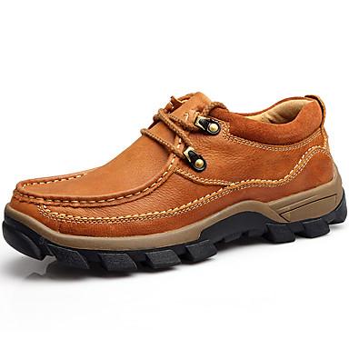 Homens Sapatos de couro Pele Napa Primavera / Outono Oxfords Castanho Claro / Festas & Noite / Festas & Noite / Ao ar livre / Sapatos Confortáveis