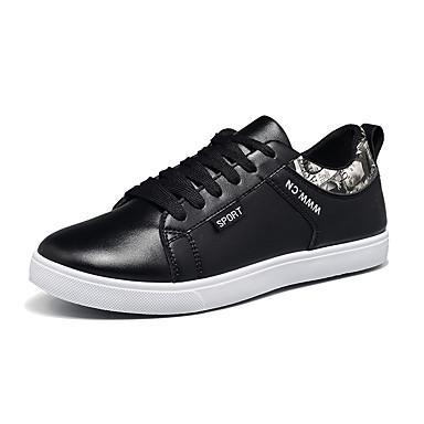 Herren-Sneaker-Büro Lässig Sportlich-Kunstleder-Flacher Absatz-Andere-Schwarz Blau Weiß