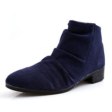 Bootsit-Tasapohja-Miesten-PU-Musta Sininen Ruskea-Rento-Comfort