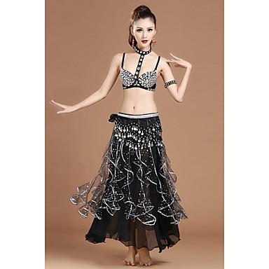 Werden wir Bauchtanz Outfits Frauen Polyester Kristalle / Strass 5 Stück schwarz