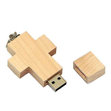 8GB minnepenn USB-disk USB 2.0 Tre Tegneserie Kompaktstørrelse Wooden