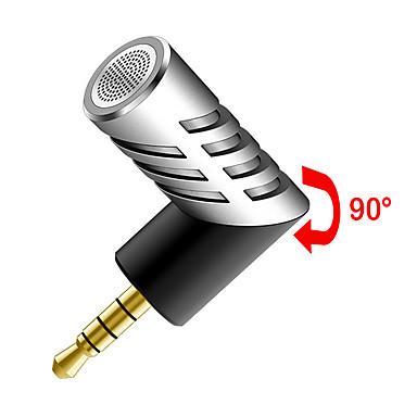 NO Alámbrico Micrófono de Karaoke 3.5mm Plata