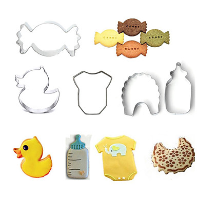 Bakeware verktøy Rustfritt Stål GDS Kake / Til Småkake / Pai Tekneserie Formet / Dyr Bakeform 5pcs