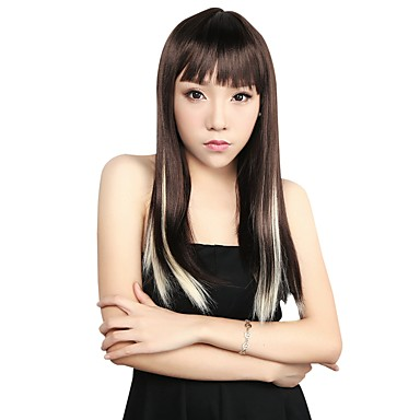 Neitsi 10pcs 18inch Colored Highlight Synthetic Clip on in Hair Extensions 613#