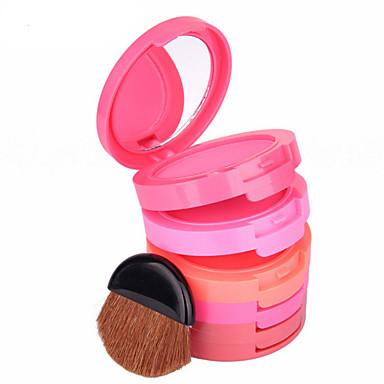 5 cores Pós Corar Gloss Colorido / Longa Duração / Natural Rosto Maquiagem Cosmético