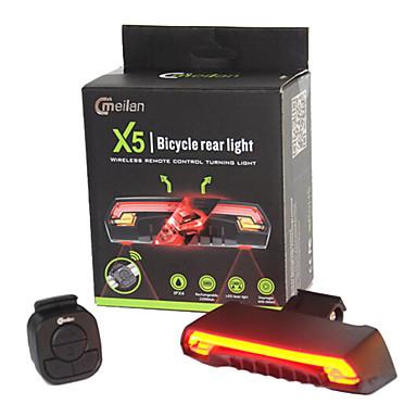 Baklys til sykkel / sikkerhet lys / Baklys Laser / LED Sykkellykter LED Sykling Vanntett, Fjernkontroll, Super Lett Lithium-batteri 80 lm Batteri Sykling / Utendørs / ABS / IPX-4
