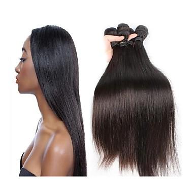 Brasileña del pelo de Remy Extensión Natural Remy Recto Extensiones onduladas naturales remy