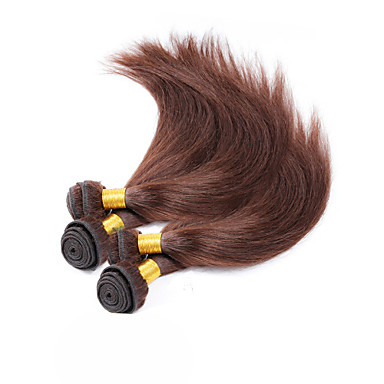 Υφάνσεις ανθρώπινα μαλλιών Βραζιλιάνικη Drept 4 Κομμάτια υφαίνει τα μαλλιά