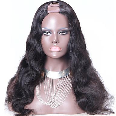 Cabello humano Peluca Ondulado Grande Peluca 130% Entradas Naturales / Peluca afroamericana / Atado 100 % a mano Mujer Corta / Media / Larga Pelucas de Cabello Natural