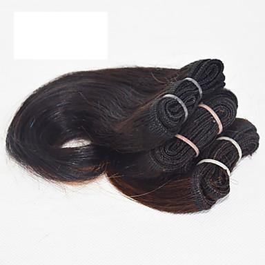 Düz Brezilya Saçı Vücut Dalgası İnsan saç örgüleri 3 Parça 0.08