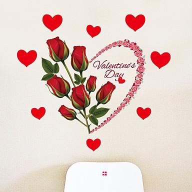 Calcomanías Decorativas de Pared - Calcomanías de Aviones para Pared Romance / Florales / Día Festivo Sala de estar / Dormitorio / Comedor