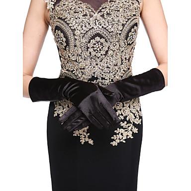 Satin-Ellenbogenlänge Handschuh Brauthandschuhe klassischen weiblichen Stil