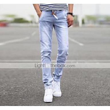 AOLONGQISHI® Men's Casual Pure Pant (Cotton/Denim) 8136