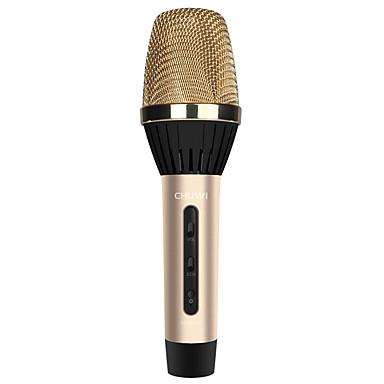 k8 لاسلكي ميكروفون كاريوكي 3.5 مم ذهبي