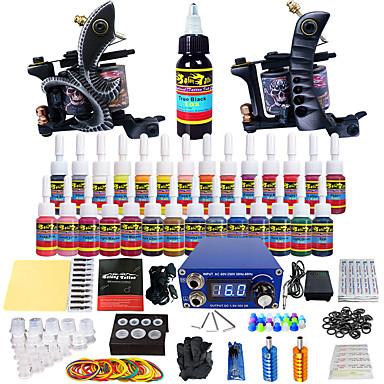 kit de tatuagem solong tatuagem iniciante 2 pro máquina s apertos de agulhas fornecimento de energia dicas nós expedição