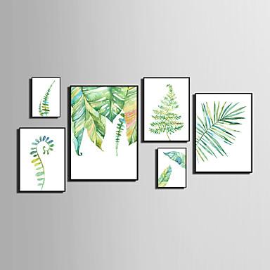 Innrammet Lerret Innrammet Sett Abstrakt Dyr Blomstret/Botanisk Veggkunst, PVC Materiale med ramme Hjem Dekor Rammekunst Stue Soverom