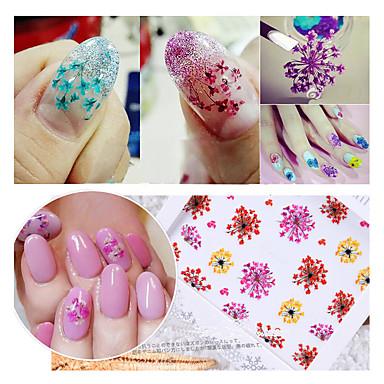 2 pcs Etiqueta engomada de la transferencia arte de uñas Manicura pedicura Moda Diario