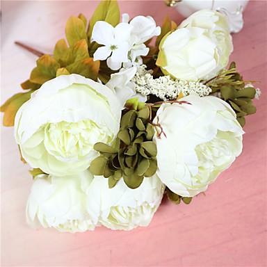 Flores Artificiales 1 Rama Estilo Simple Peonías Flor de Mesa