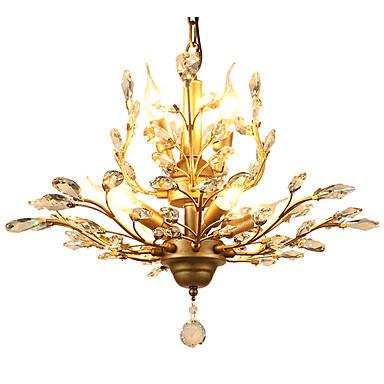LightMyself™ 7-luz Cristais Luzes Pingente Luz Ambiente Latão Metal Cristal, Estilo Mini 110-120V / 220-240V Lâmpada Não Incluída / E12 / E14