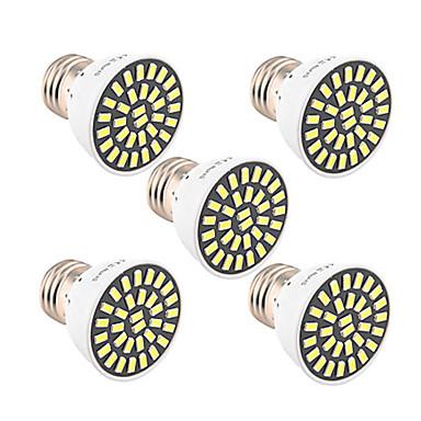 5pcs 5W 500-600lm E26 / E27 LED-spotpærer T 32 LED perler SMD 5733 Dekorativ Varm hvit Kjølig hvit 85-265V
