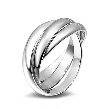 Dame Band Ring Ring - Legering Mote 6 / 7 / 8 / 9 Sølv Til Bryllup Fest Spesiell Leilighet