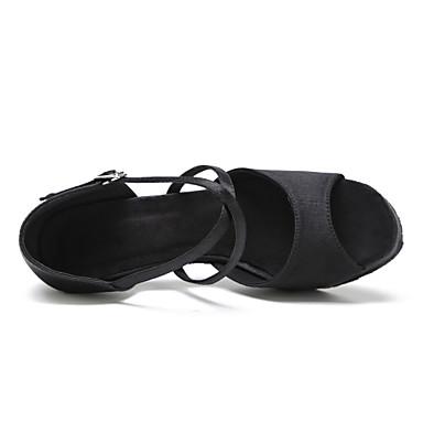 Femme Femme Femme Latines Chaussures de Swing Bottes de Danse Tissu   Talon Entra?neHommes t Débutant Professionnel Intérieur Spectacle Strass 453f52