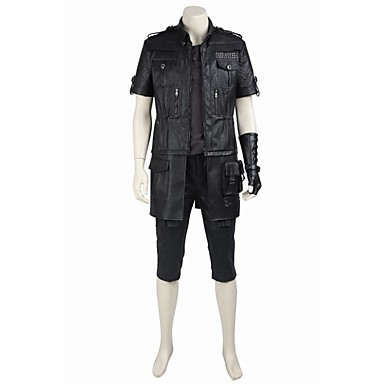 Inspirado por Final Fantasy Noctis Lucis Caelum Vídeo Juego Disfraces de cosplay Trajes Cosplay / Tops Bottoms Cosplay Un Color Chaqueta / Top / Guantes Disfraces de Halloween