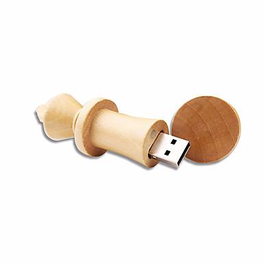 4GB minnepenn USB-disk USB 2.0 Tre Kompaktstørrelse Wooden