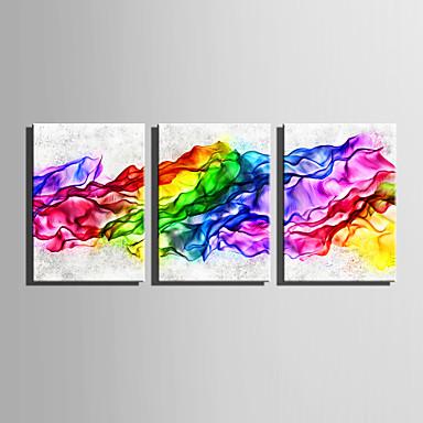 Abstrato Fantasia Modern, 3 Painéis Tela de pintura Vertical Estampado Decoração de Parede Decoração para casa