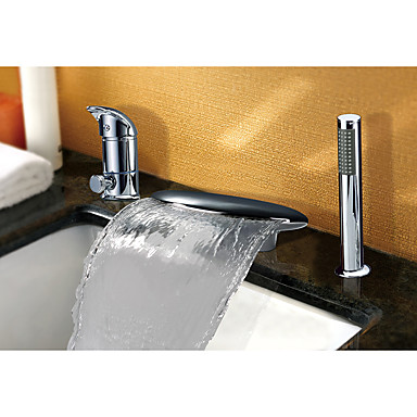 Grifo de bañera - Moderno Arte Decorativa / Retro Modern Cromo Muy Difundido Válvula Cerámica