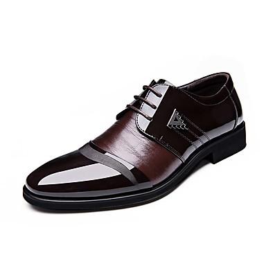Homens Sapatos formais Couro Sintético Primavera / Outono Conforto Oxfords Prova-de-Água Preto / Marron / Festas & Noite