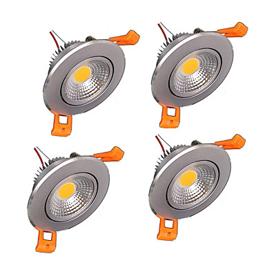 400-500 lm LED Ceiling Lights Recessed Retrofit leds COB Dimmable Warm White Cold White AC 220-240V