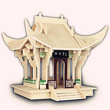 Puslespill i tre Kjent bygning Kinesisk arkitektur Skip Hus profesjonelt nivå Tre 1pcs Barne Gutt Gave