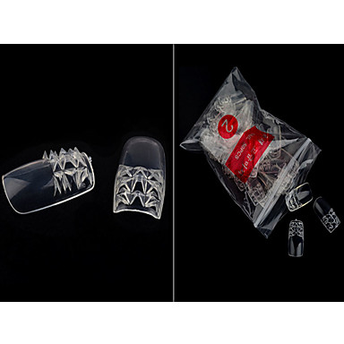 nuevo producto de una pieza de color ks uñas de color esmalte Ransparent pieza falsa 500 piezas 10 bolsitas