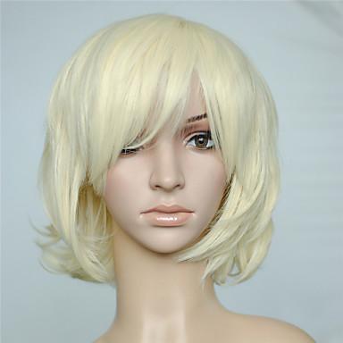 Pelucas sintéticas Rizado / Ondulado Rubio Con flequillo Pelo sintético Con golpes Rubio Peluca Mujer Sin Tapa Blonde