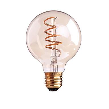 Ondenn 1 pc 4 w 400 lm b22 e26 / e27 levou lâmpadas de filamento g80 1 leds cob regulável branco quente ac 220-240 v ac 110-130 v