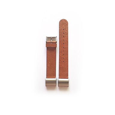 Klokkerem til Fitbit Charge 2 Fitbit Lærrem Metall Lær Håndleddsrem