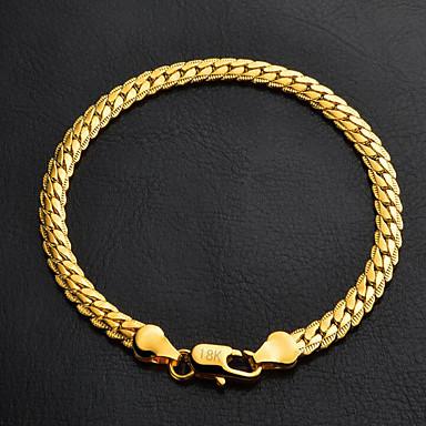 Pentru femei Figaro lanț / chunky Brățări cu Lanț & Legături - Placat cu platină, Placat Auriu Clasic, Modă Brățări Argintiu / Auriu Pentru Cadouri de Crăciun / Nuntă / Petrecere