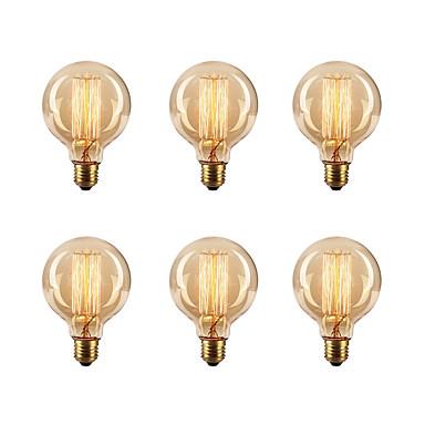 Ecolight™ 6pcs 40W E26 / E27 G80 2300k Glødende Vintage Edison lyspære 220-240V