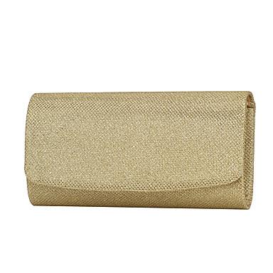 Női Táskák Poliészter Estélyi táska   Három részes Egyszínű Arany   Fekete    Ezüst 1acdd8521d
