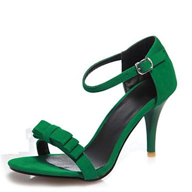 58cf011d21 Club cipő-Stiletto-Női cipő-Szandálok-Irodai Ruha Alkalmi-Bársony-Fekete  Zöld Lila