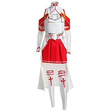 geinspireerd door SAO Alicization Asuna Yuuki Anime Cosplaykostuums Cosplay Kostuums Patchwork Mouwloos Top / Rok / Mouwen Voor Heren / Dames
